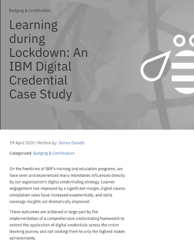Learning During Lockdown, An IBM Digital Credential Case Study image
