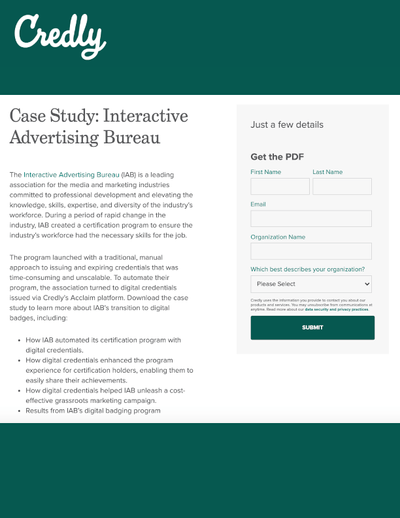 GATED CONTENT: Interactive Advertising Bureau Case Study image