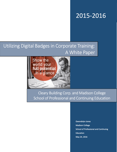 Utilizing Digital Badges in Corporate Training: A White Paper image