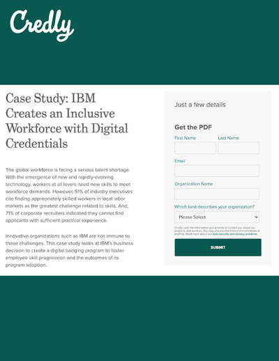 GATED CONTENT: IBM Creates an Inclusive Workforce with Digital Credentials image