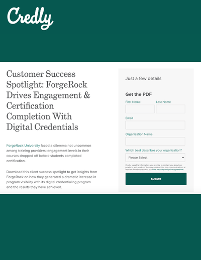 GATED CONTENT: ForgeRock Drives Engagement & Certification Completion With Digital Credentials image