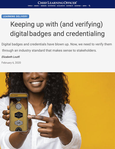Keeping Up With and Verifying Digital Badges and Credentialing image