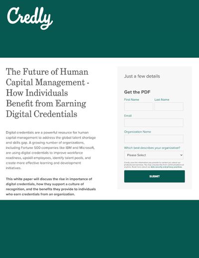 GATED CONTENT: The Future of Human Capital Management - How Individuals Benefit from Earning Digital Credentials image