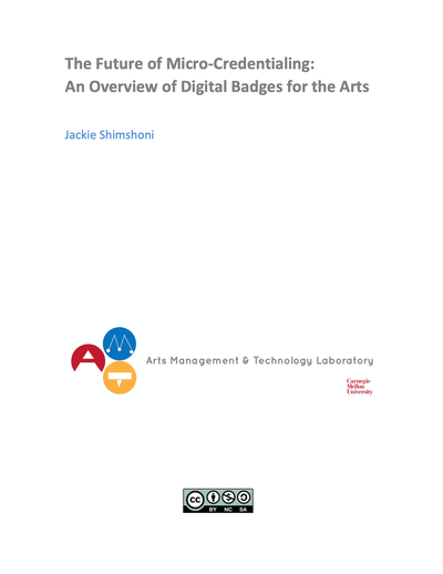 The Future of Micro Credentialing: An Overview of Digital Badges for the Arts image