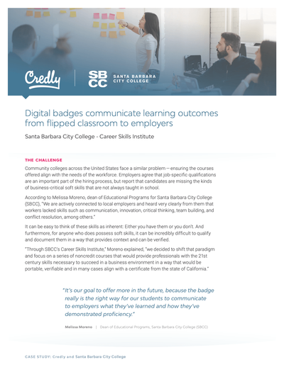 Digital badges communicate learning outcomes from flipped classroom to employers image