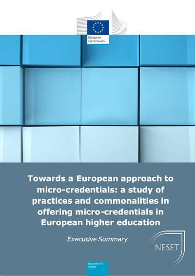 Towards a European approach to micro-credentials: a study of practices and commonalities in offering micro-credentials in European higher education image