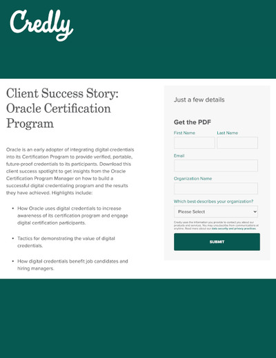 GATED CONTENT: Oracle Certification Program Customer Success Story image